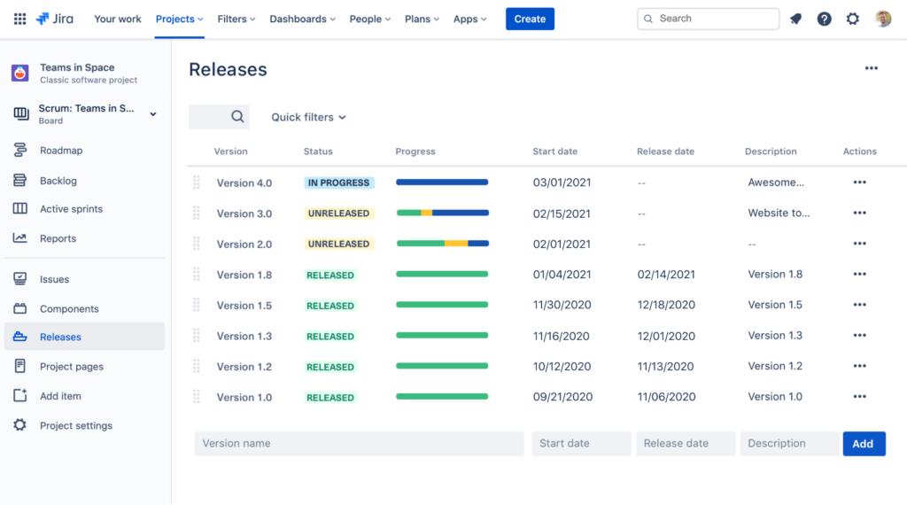 Jira Software Release Management